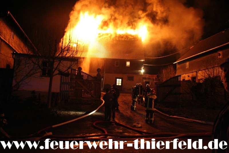 Dachstuhlbrand – Hartensteiner Straße