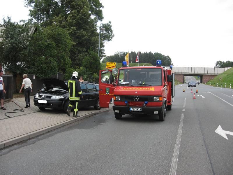PKW-Brand auf der Hohen Straße