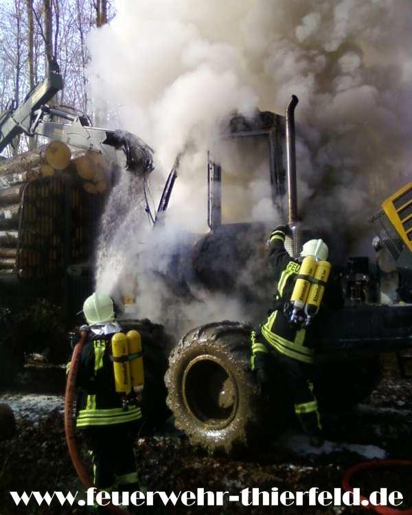 Brand Rückezug (Forstfahrzeug)