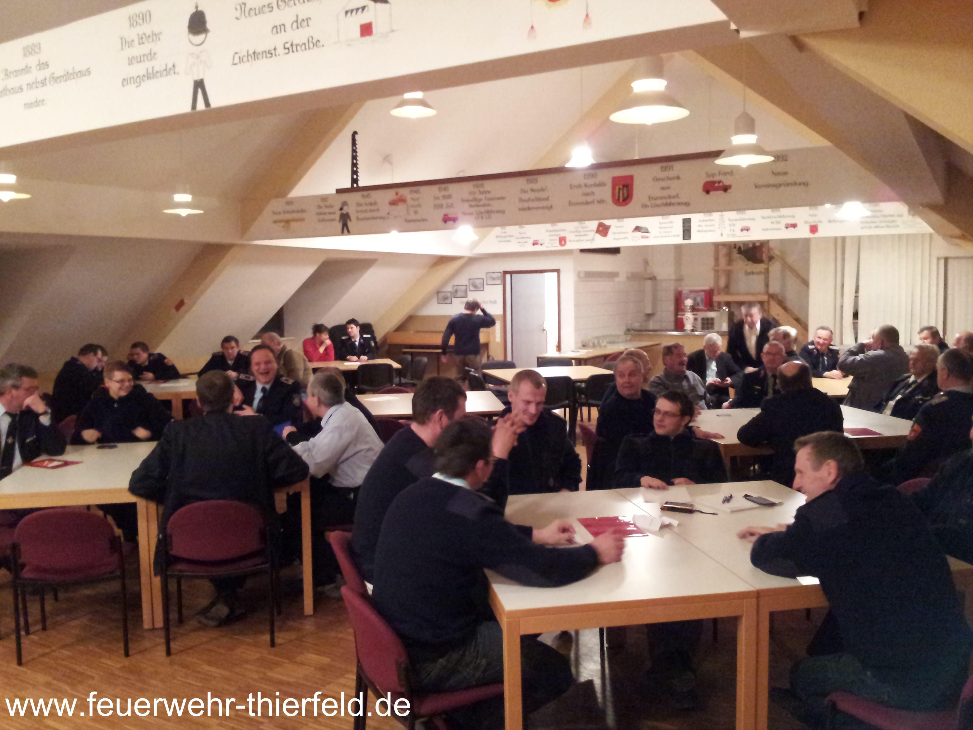 Hauptversammlung der Stadtfeuerwehr Hartenstein 07.02.2014