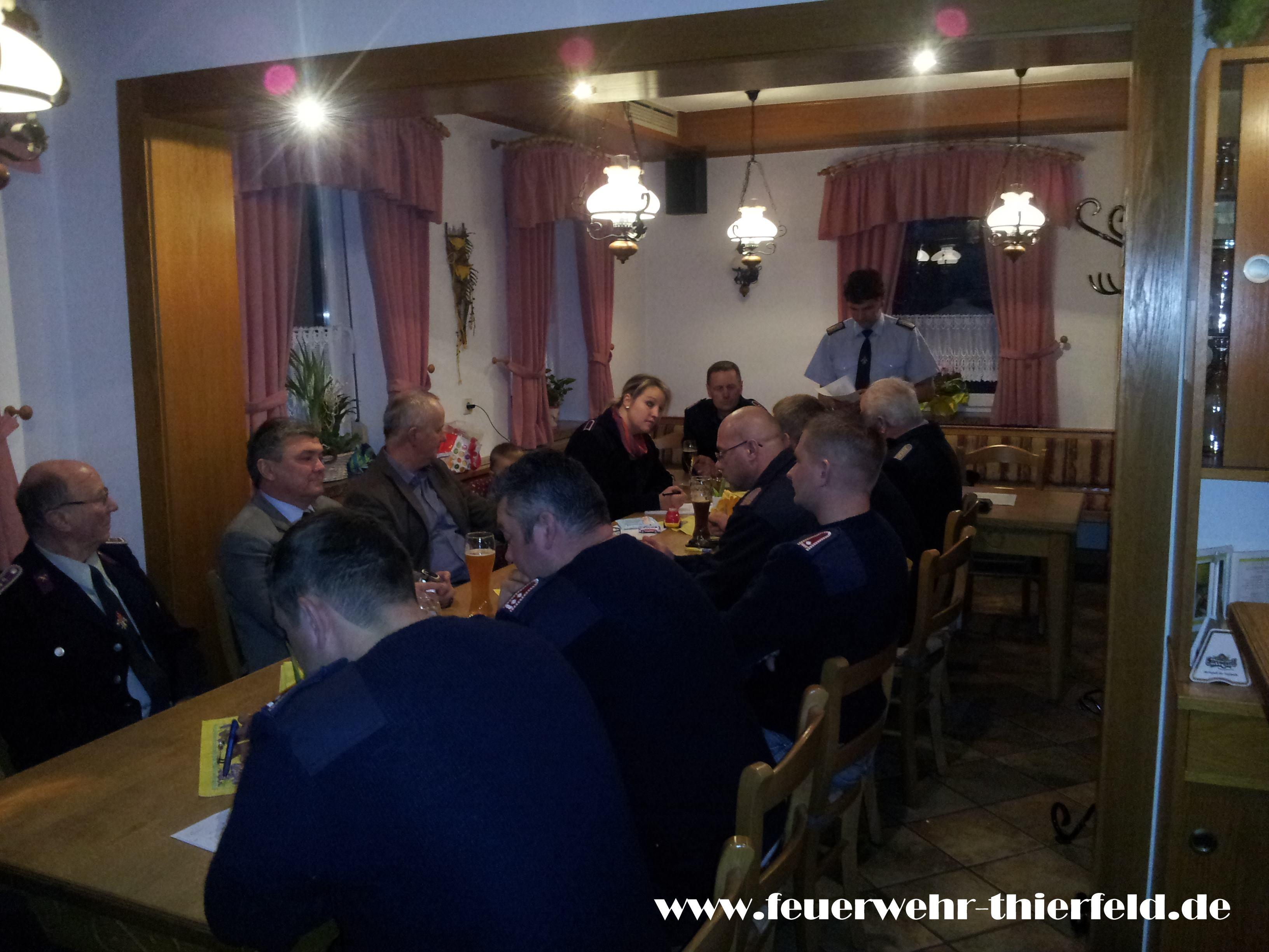 Jahreshauptversammlung Feuerwehr Thierfeld am 28.02.2014