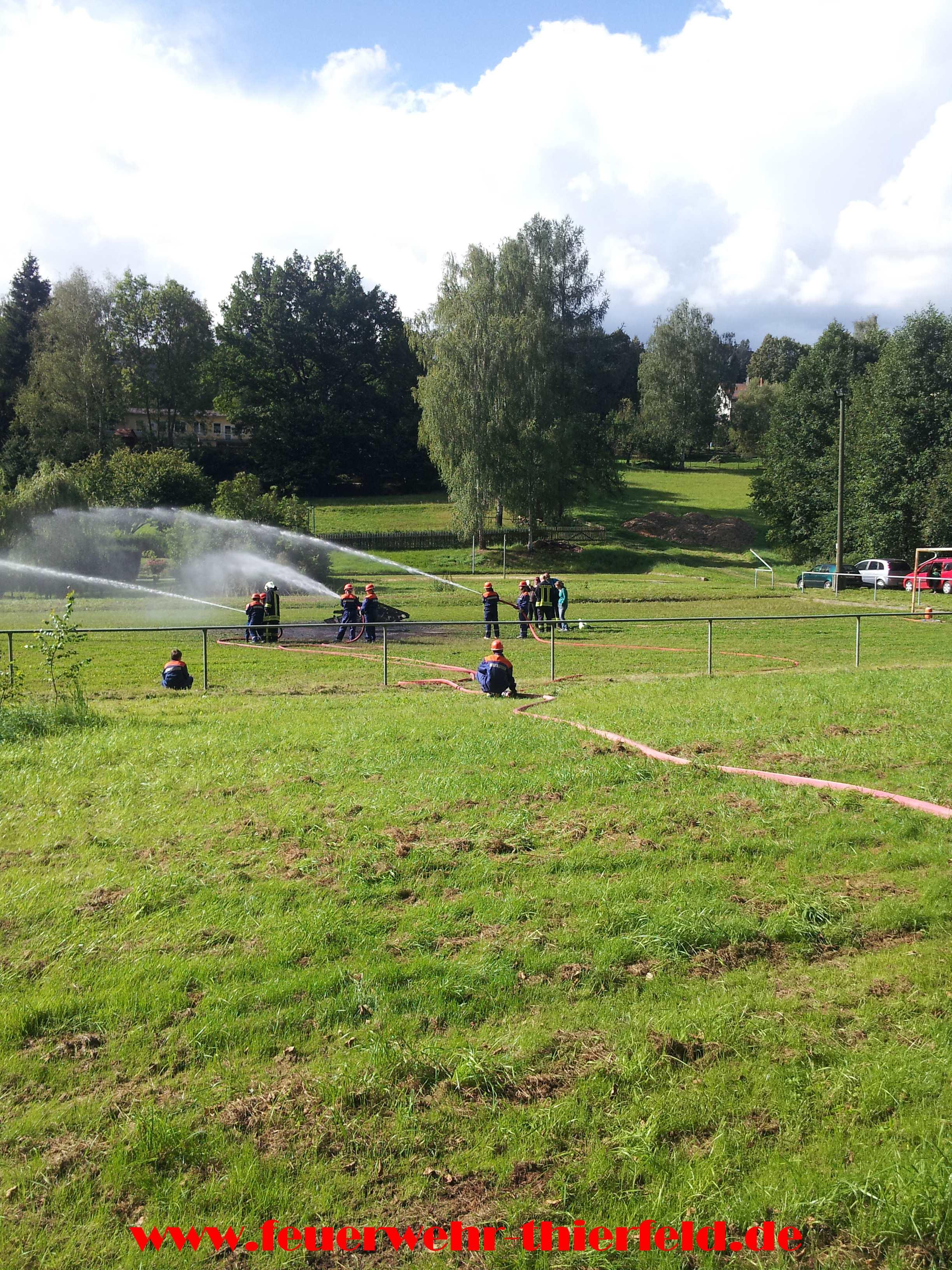 Erlebniswochenende der Jugendfeuerwehr Thierfeld 2014