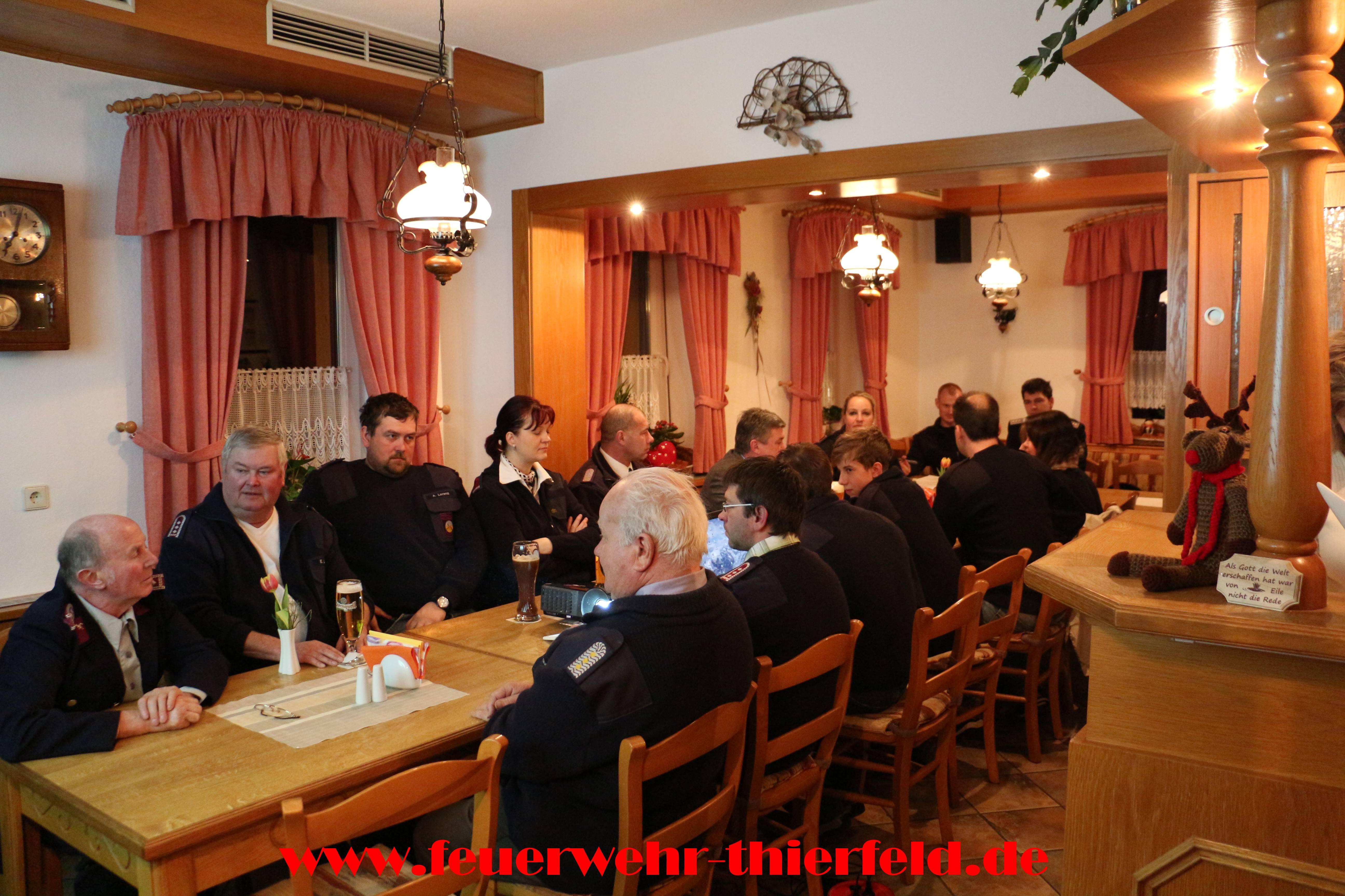 Jahreshauptversammlung Feuerwehr Thierfeld am 27.02.2015