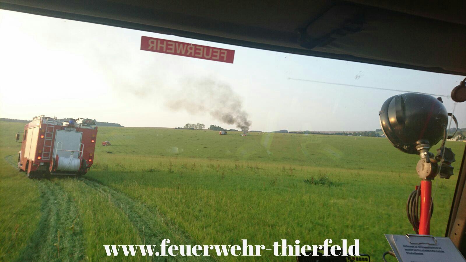 Einsatz 12: Brand Kleinflugzeug in Zschocken