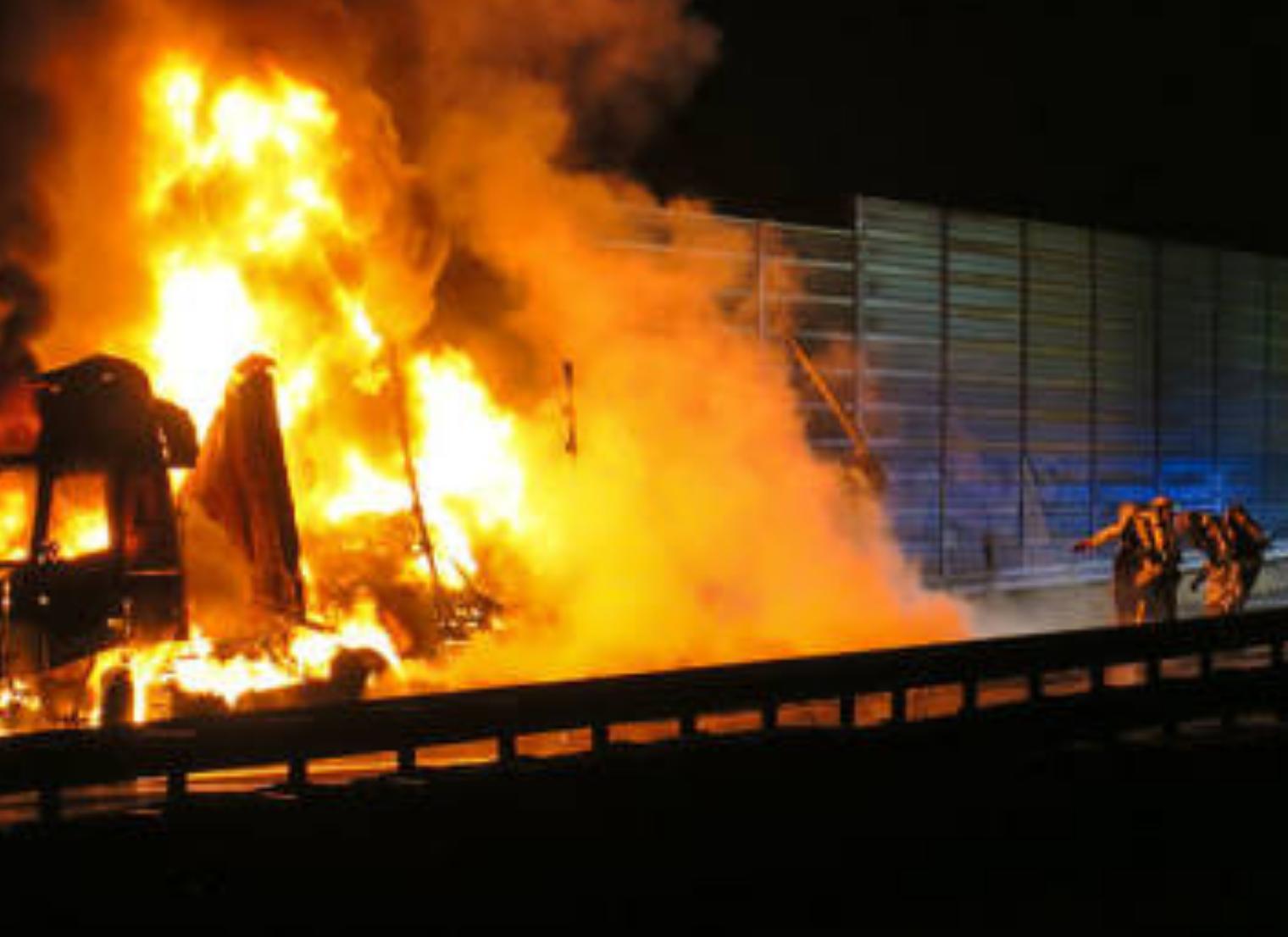 Einsatz 4: Lkw Brand auf A72