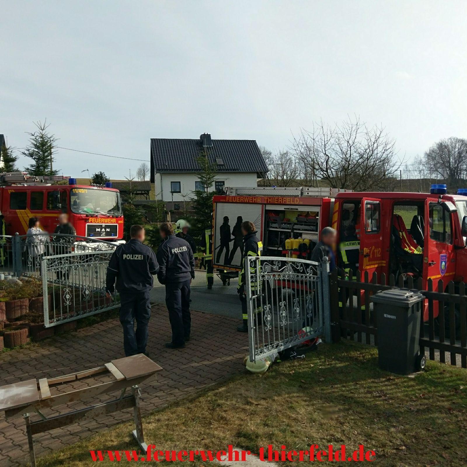 Einsatz 5: Wohnungsbrand in Thierfeld / Gartenweg