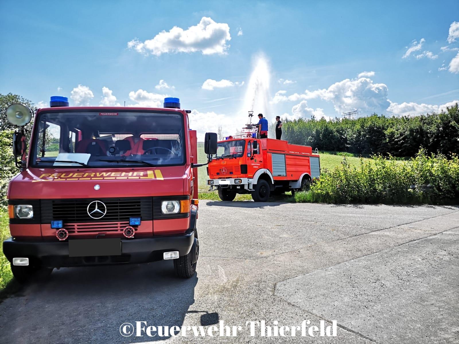Besuch bei der Jugendfeuerwehr Thierfeld