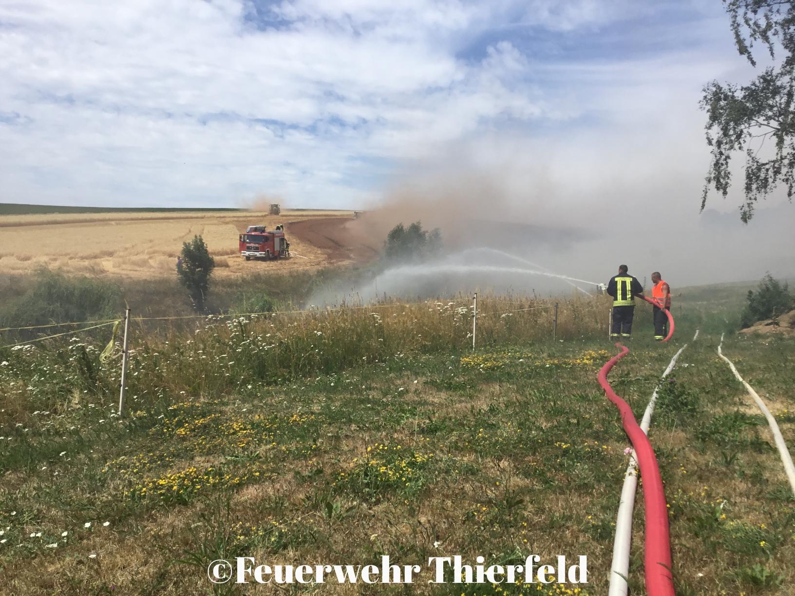 Einsatz 25: Brand Feld im Ortsteil Zschocken