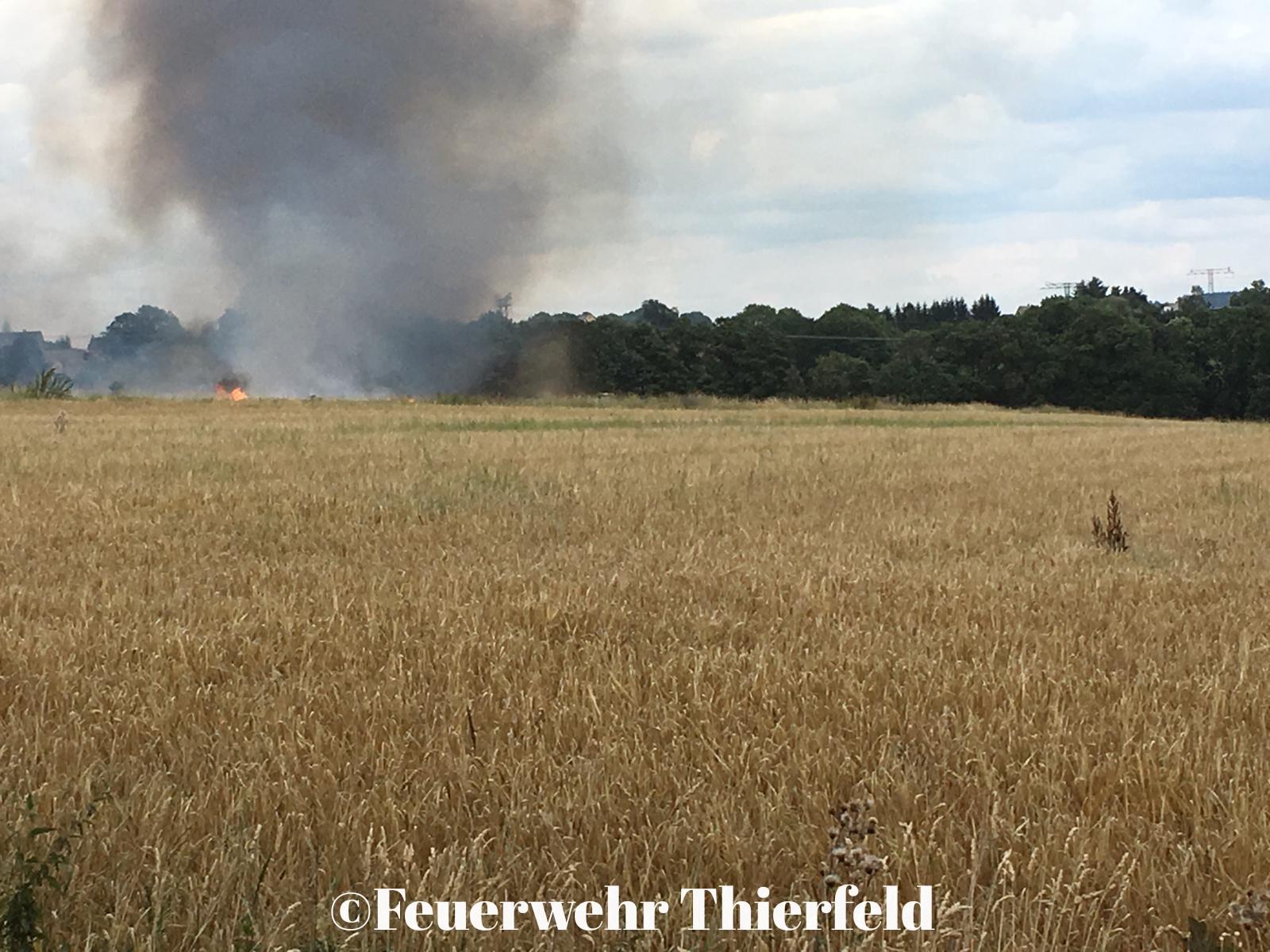 Einsatz 29 : BR1 -Brand Feld im Ortsteil Thierfeld