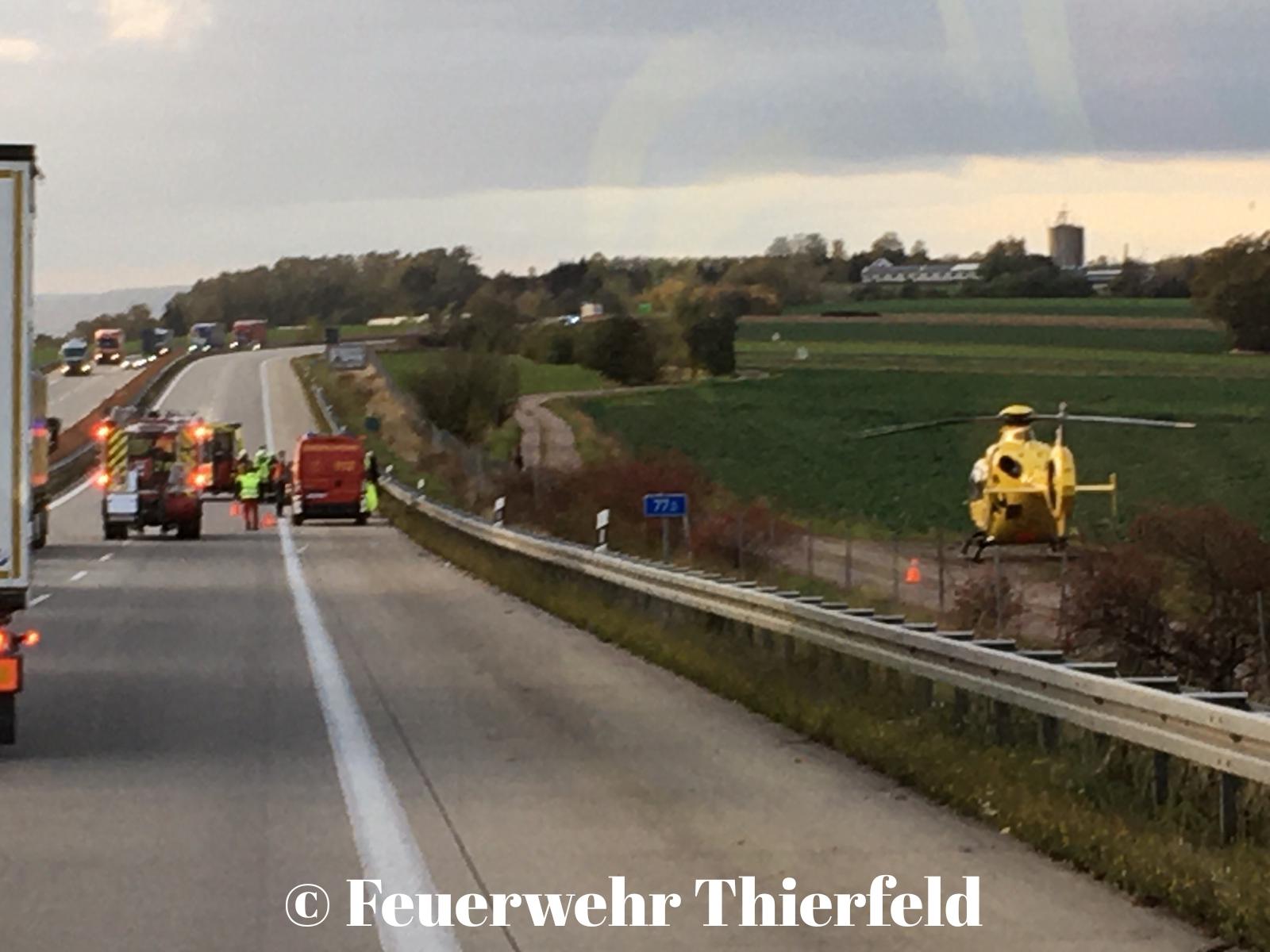 Einsatz 34: TMR1 – Unfall auf A72 Fahrtrichtung Hof.